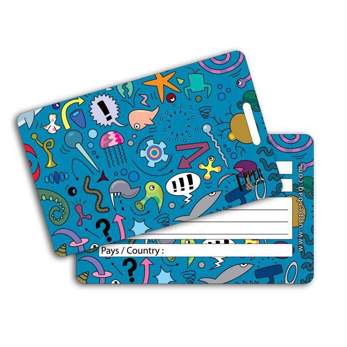 Etiquette bagage ben ocean blue achat vente porte for 1 porte etiquette de voyage