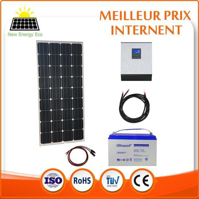 kit solaire autonome 230v 1kva avec modules solaires 150w achat vente kit photovoltaique. Black Bedroom Furniture Sets. Home Design Ideas