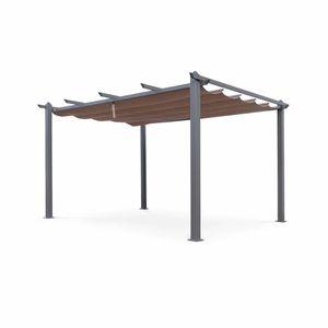 PERGOLA Tente de jardin, pergola aluminium 3x4m Condate ta