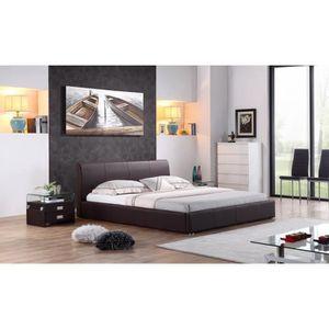 cadre de lit 160x200 achat vente cadre de lit 160x200. Black Bedroom Furniture Sets. Home Design Ideas