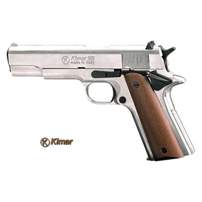 Pistolet alarme colt 1911 nickel bois 9mm p a k prix pas cher cdiscount - Arme pas cher ...