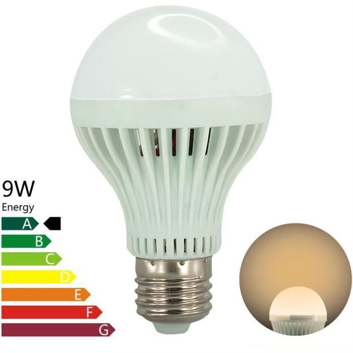 ampoule advansia ampoule led e27 9w blanc chaud achat. Black Bedroom Furniture Sets. Home Design Ideas