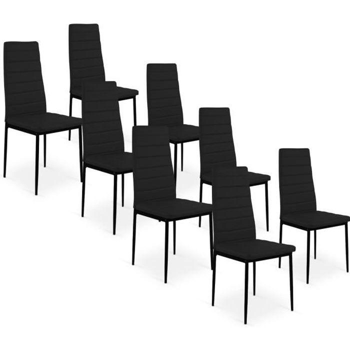 Lot de 8 chaises strip noir achat vente chaise noir - Lot de chaises noires ...