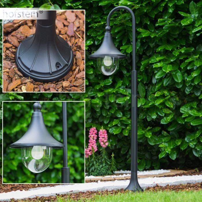 Lampadaire lampe de jardin lampe ext rieure noire achat for Lampe exterieur de jardin