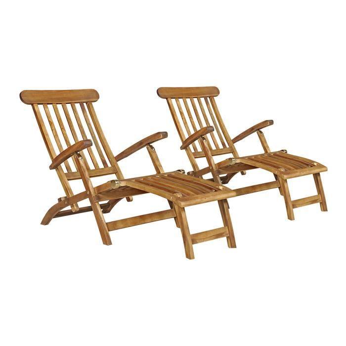 lot de 2 chaises longues baya achat vente chaise longue lot de 2 chaises longues baya. Black Bedroom Furniture Sets. Home Design Ideas