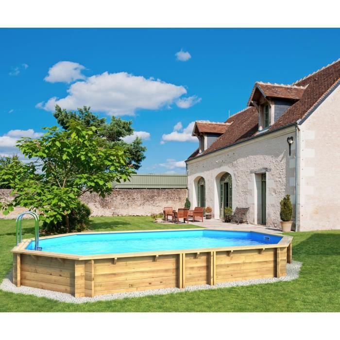 weva piscine bois octogonale 6 40 x 1 20 m achat vente piscine piscine bois octogonale. Black Bedroom Furniture Sets. Home Design Ideas