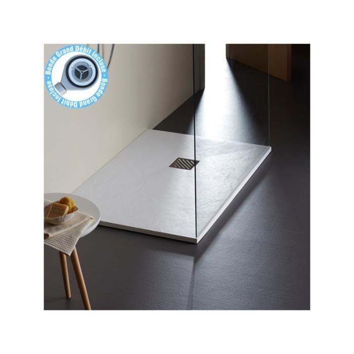 Receveur effet ardois en 90x140 cm achat vente receveur de douche receveur effet ardois en - Receveur graniet ...