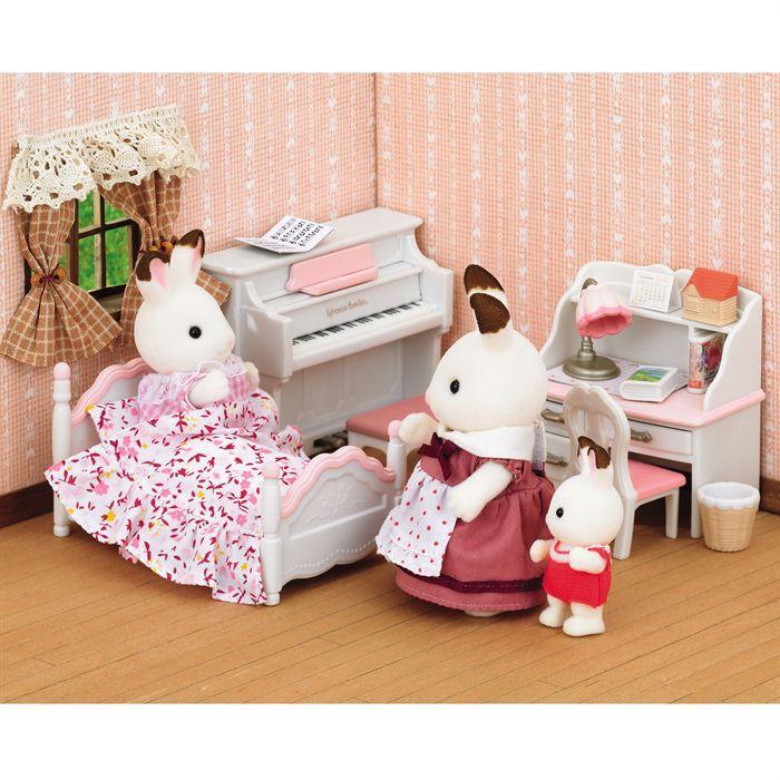 sylvanian families set chambre fillette achat vente. Black Bedroom Furniture Sets. Home Design Ideas