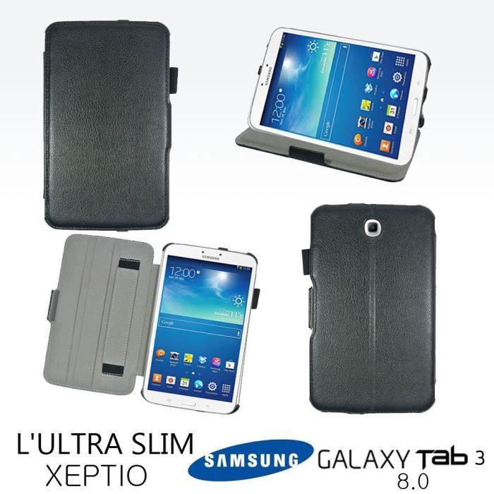 informatique accessoires tablettes tactiles housse samsung galaxy tab  pouces noir cuir pu f xep