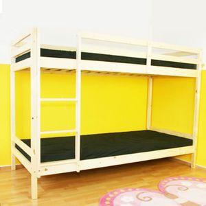lit superpose enfant double achat vente lit superpose enfant double pas cher cdiscount. Black Bedroom Furniture Sets. Home Design Ideas