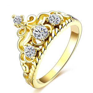 BAGUE - ANNEAU Bague en diamant couronne d'or