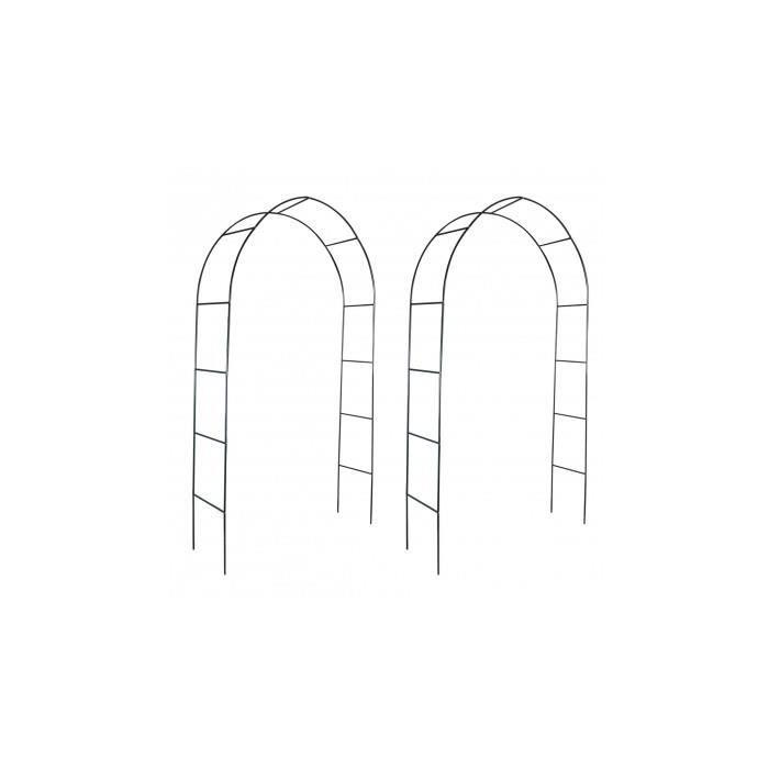arche de jardin pour des plantes grimpantes 2 pi ces. Black Bedroom Furniture Sets. Home Design Ideas