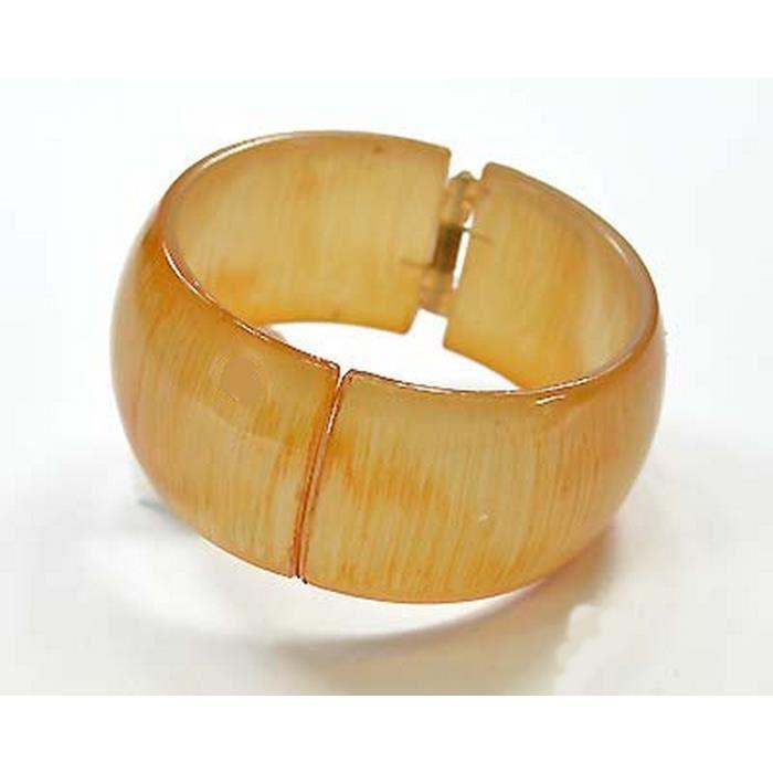 bracelet rigide r sine imitation bois marron clair achat vente bracelet gourmette bracelet. Black Bedroom Furniture Sets. Home Design Ideas