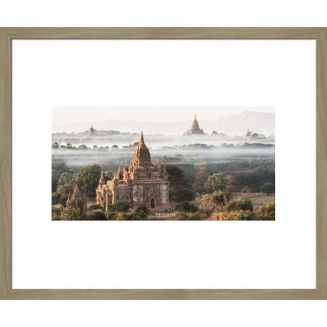 Image encadr e birmanie 50x60 cm beige achat vente for Image encadree decoration