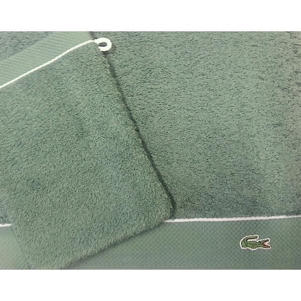 2 serviettes 2 gants lacoste classique vert achat vente parure de bain cdiscount. Black Bedroom Furniture Sets. Home Design Ideas