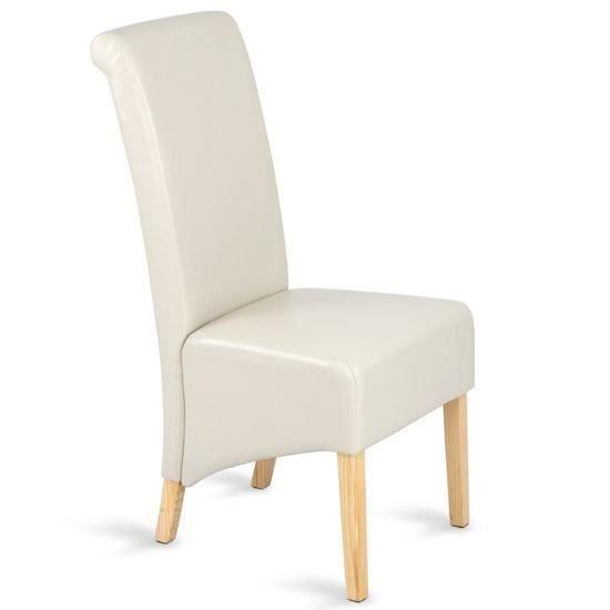 Chaise de salle manger beige dot e de pieds en couleur for Chaise de salle a manger de couleur