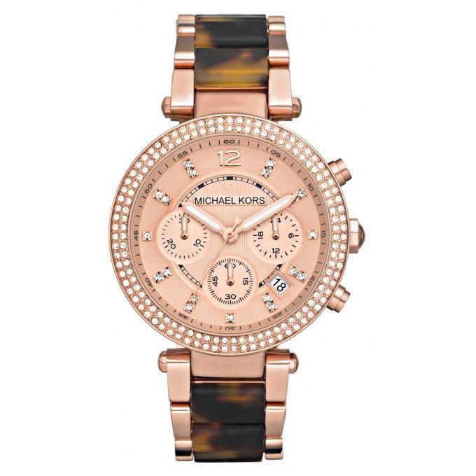montre chronographe pour femme parker de michael kors