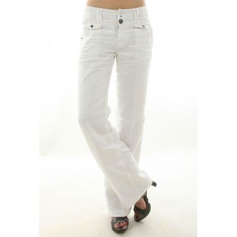 pantalon ddp femme f7wapl6 white blanc blanc achat. Black Bedroom Furniture Sets. Home Design Ideas