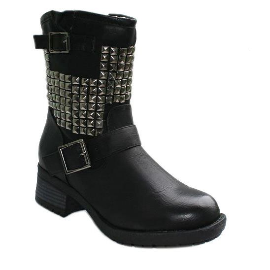 chaussures femme bottines cloutees ccp f  mp