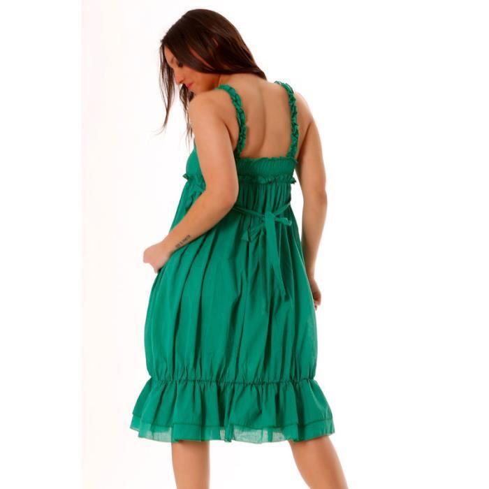 miss wear line robe d 39 t verte mi longue perl e sur la poitrine et attachable au niveau du. Black Bedroom Furniture Sets. Home Design Ideas