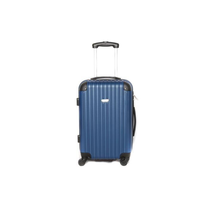 valise trolley taille cabine 4 roues bleu achat vente valise bagage 2009929975954 cdiscount. Black Bedroom Furniture Sets. Home Design Ideas