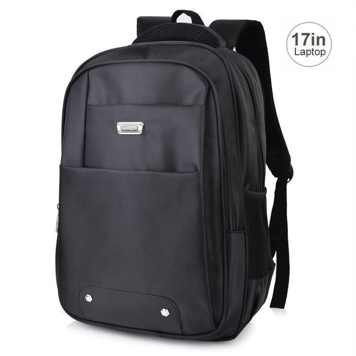 vbiger sac dos tissu oxford pc portable pour 17 pouces. Black Bedroom Furniture Sets. Home Design Ideas