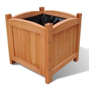 bac a fleurs en bois achat vente bac a fleurs en bois pas cher les soldes sur cdiscount. Black Bedroom Furniture Sets. Home Design Ideas