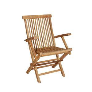 fauteuil teck brut achat vente fauteuil teck brut pas cher cdiscount. Black Bedroom Furniture Sets. Home Design Ideas