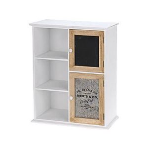 PETIT MEUBLE RANGEMENT  armoire avec 2 porte et ètagére en bois 35 x 14 x