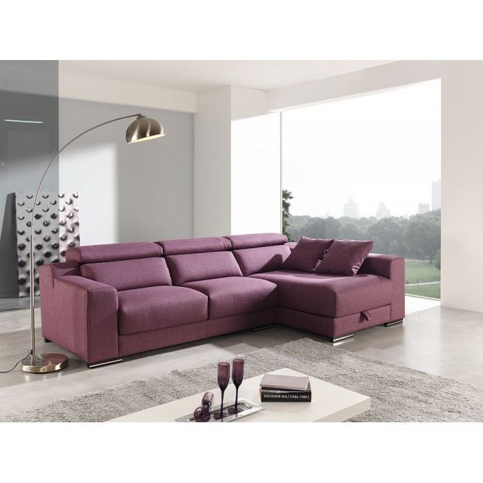 canap d 39 angle design disar mati re polyester couleur bordeaux achat vente canap sofa. Black Bedroom Furniture Sets. Home Design Ideas