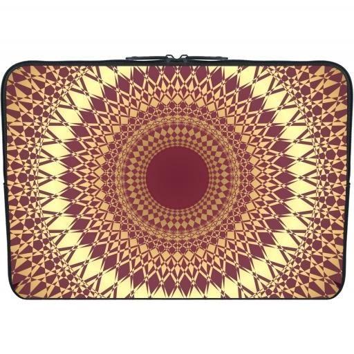 housse neoprene pc ordinateur portable 13 3 pouces mandala rouge fonc or prix pas cher. Black Bedroom Furniture Sets. Home Design Ideas