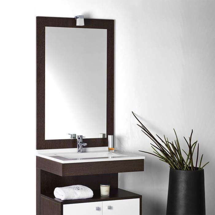 miroir avec applique rondinara 2 largeurs achat vente miroir cdiscount. Black Bedroom Furniture Sets. Home Design Ideas