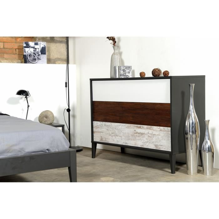 commode 110 cm mini achat vente commode de chambre commode 110 cm mini cdiscount. Black Bedroom Furniture Sets. Home Design Ideas