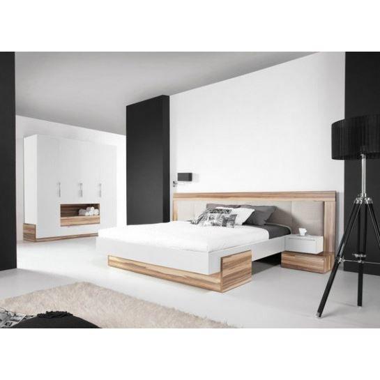 lit armoire dressing design white achat vente lit. Black Bedroom Furniture Sets. Home Design Ideas