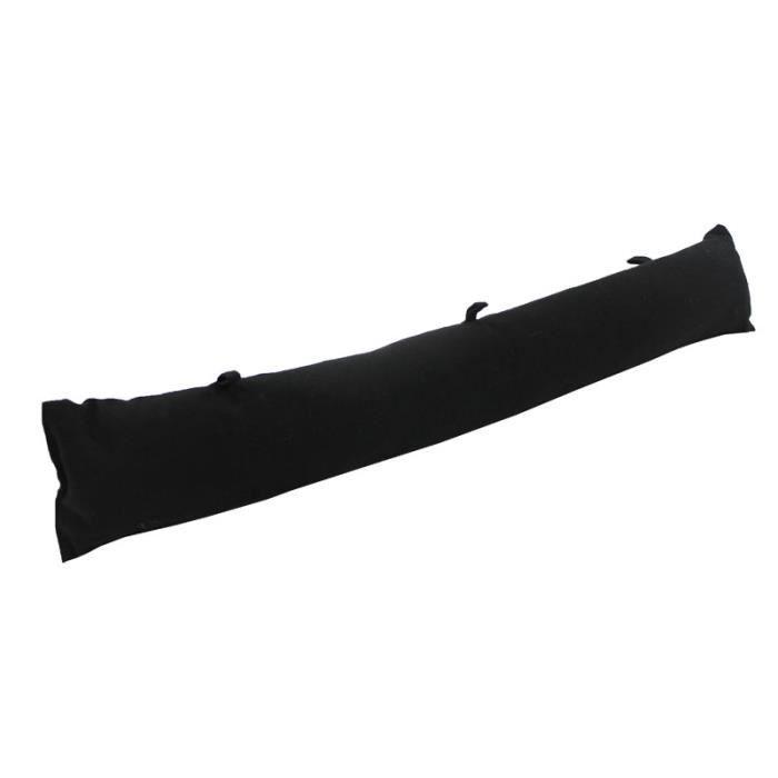 Bas de porte almeria noir coton 85x12cm achat vente for Boudin de porte 60 cm