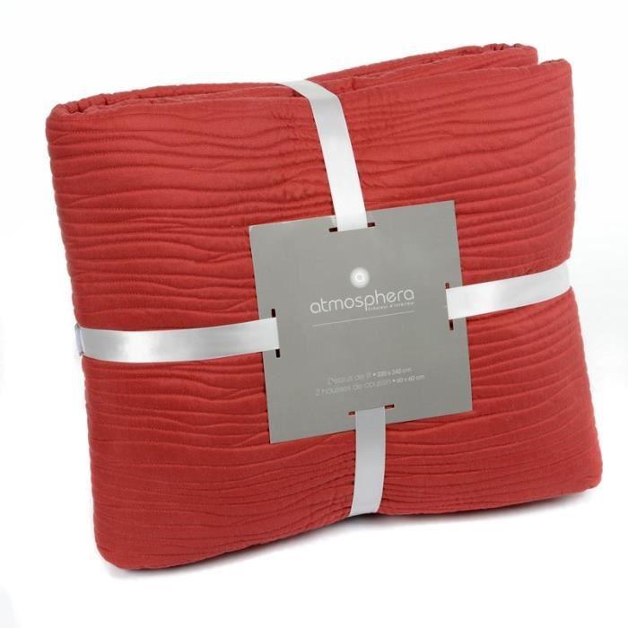 paris prix dessus de lit 2 housses de coussin rouge achat vente jet e de lit boutis. Black Bedroom Furniture Sets. Home Design Ideas