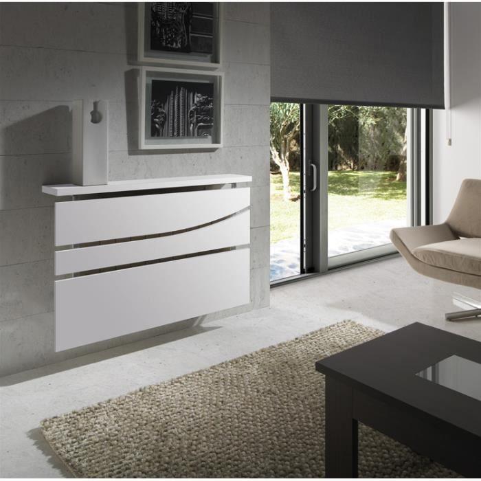 cache radiateur 100 coloris blanc l100 x h71 x p19 5 cm. Black Bedroom Furniture Sets. Home Design Ideas