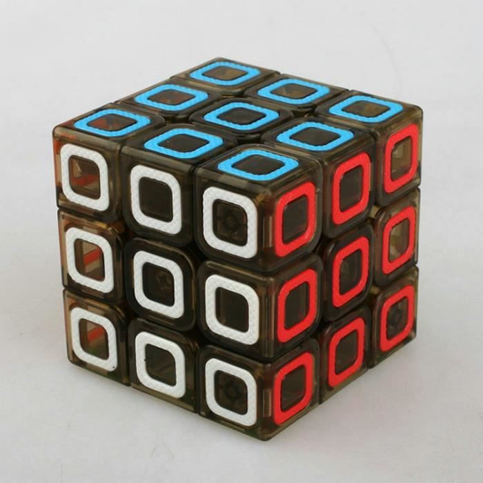 sungci ciyuan 57mm anneau de couleur rubik cube3x3 magic cube transparent brown achat vente. Black Bedroom Furniture Sets. Home Design Ideas