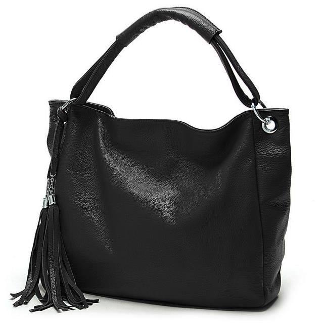 Sac à Main Bandoulière Femme Noir : Sac ? main bandouli?re noir femme pu casual style mode