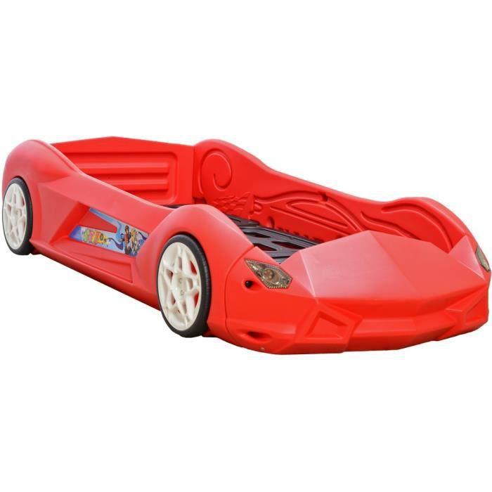 lit enfant voiture racer rb01 rouge lit auto de chambre. Black Bedroom Furniture Sets. Home Design Ideas
