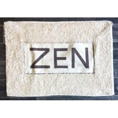 Tapis salle de bain zen couleur marron achat vente for Tapis de salle de bain zen