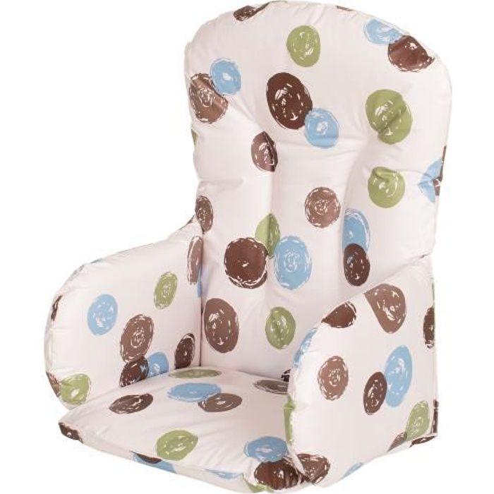 geuther coussin de chaise pvc matelass th me pois blanc avec des pois achat vente chaise. Black Bedroom Furniture Sets. Home Design Ideas