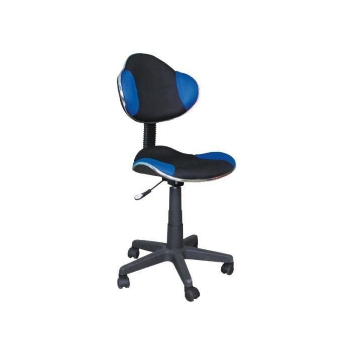 Justhome q g2 chaise fauteuil de bureau noir bleu 84 95 for Chaise de bureau bleu