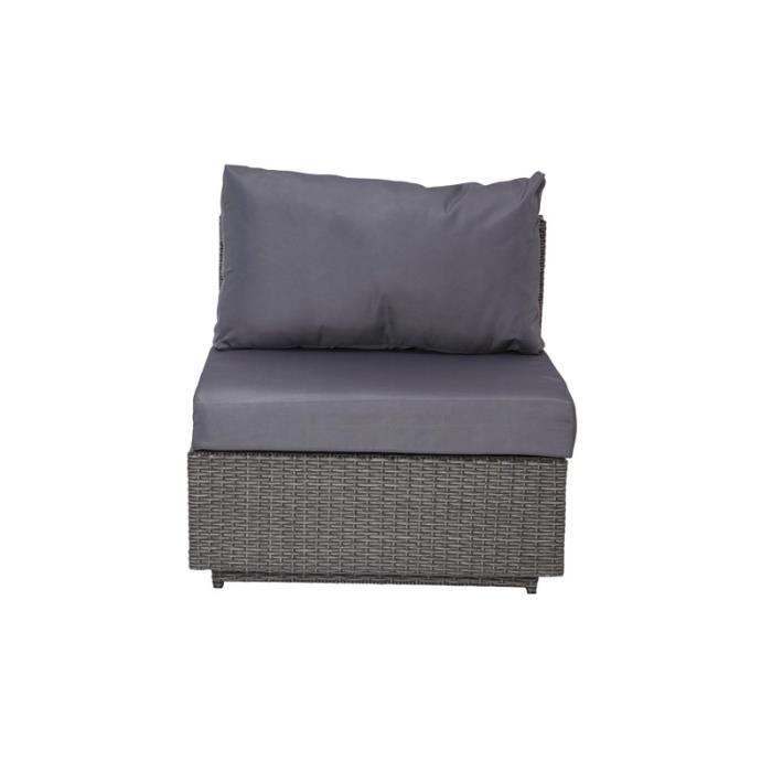 Fauteuil d 39 ext rieur en r sine gris achat vente fauteuil jardin faute - Fauteuil exterieur resine ...