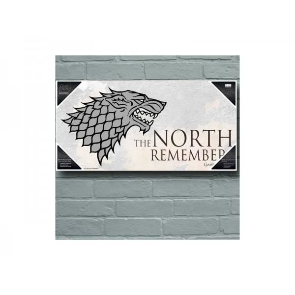 Poster en verre game of thrones north remembers 50x25cm for Decoration murale game of thrones