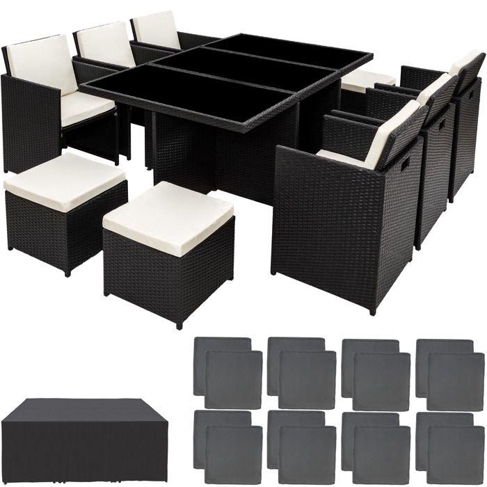 salon de jardin onyx 6 chaises 4 tabourets 1 table en r sine tress e structure aluminium. Black Bedroom Furniture Sets. Home Design Ideas