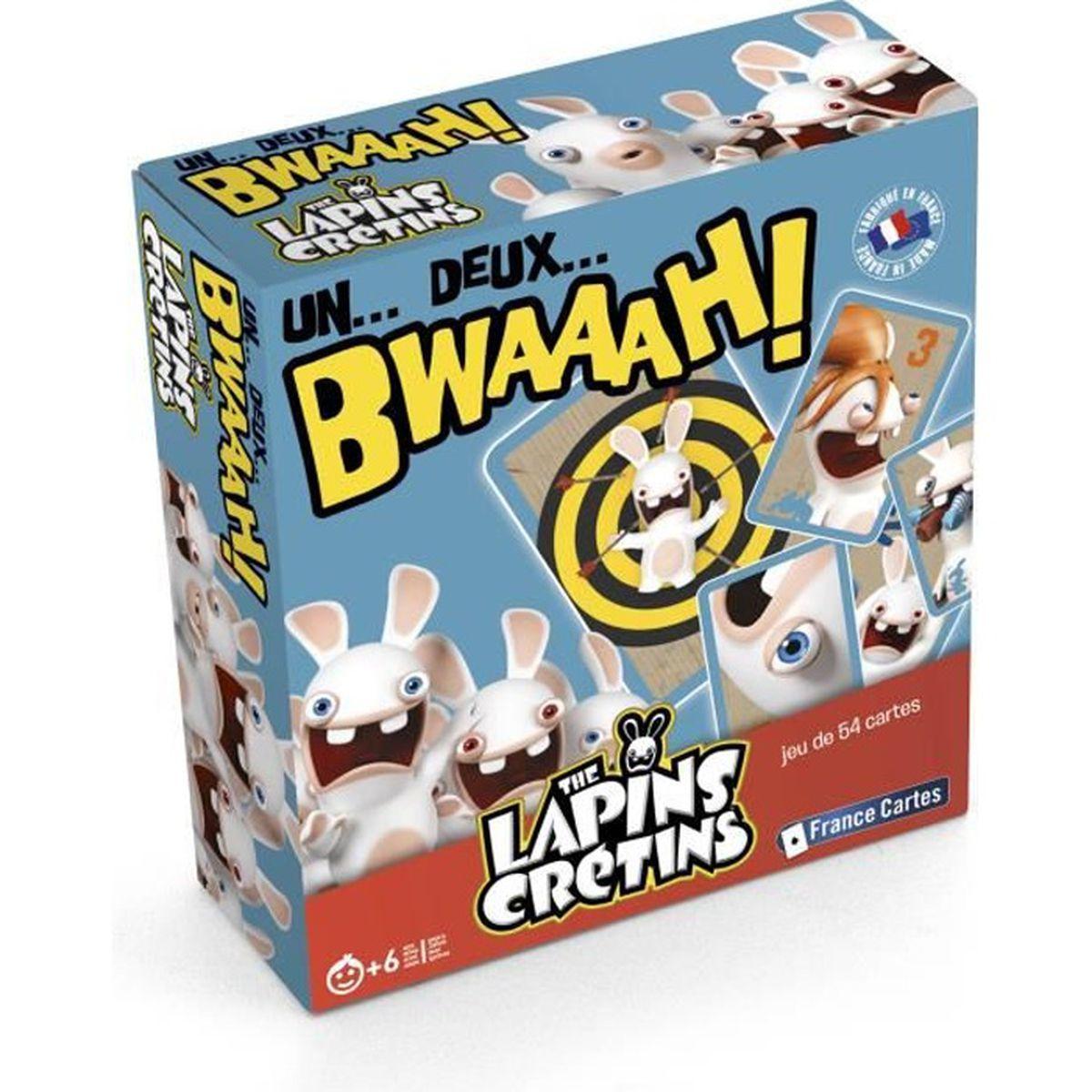 un deux bwaaah jeu de cartes les lapins cr tins achat vente cartes de jeu cdiscount. Black Bedroom Furniture Sets. Home Design Ideas