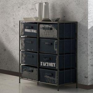 Petit meuble de rangement industriel achat vente petit for Meuble petit casier