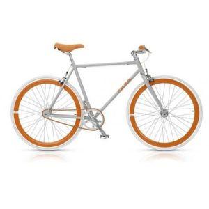 Pignon fixe Nuda 28 gris orange