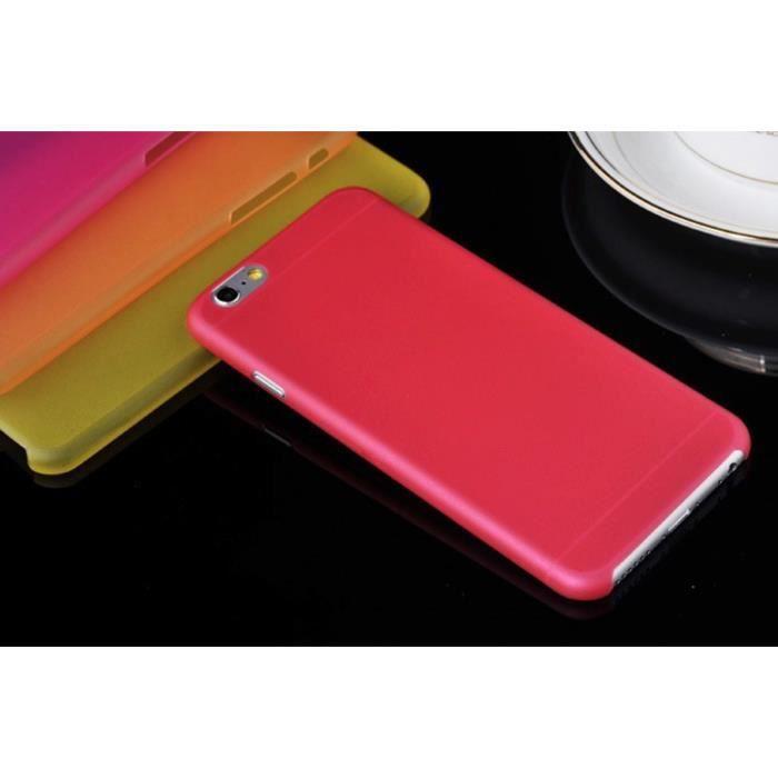 Coque semi rigide apple iphone 6 rouge depoli achat coque bumper pas cher - Meilleur semi rigide 5m ...